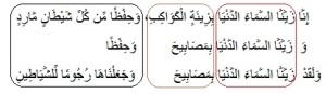 وَزَيَّنَّا السَّمَاءَ الدُّنْيَا بِمَصَابِيحَ وَحِفْظًا - سورة فصلت، الاعجاز العلمي في تفسير القرآن الكريم