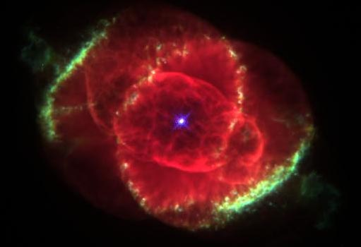 The Cat's Eye nebula, the explosion of a sun-like star 3,000 light years away
