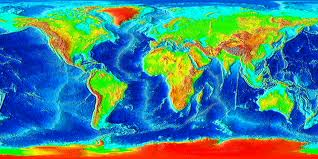 NOAA, Mountain chains on the surface of earth, they mostly exist on the sides of continents